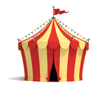 marquee tent: circus tent 3d illustration Stock Photo