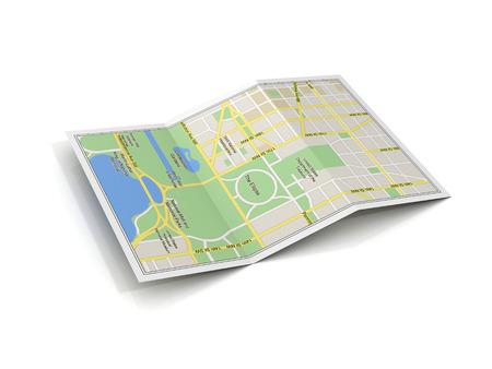plattegrond van de stad 3d illustratie
