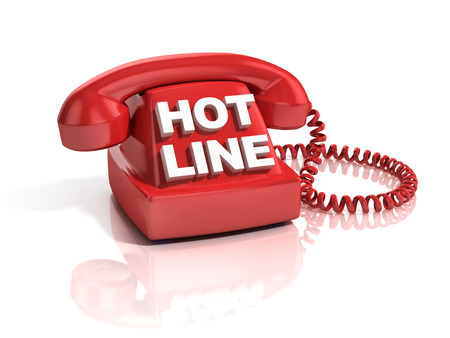 hot line: hot line phone 3d icon