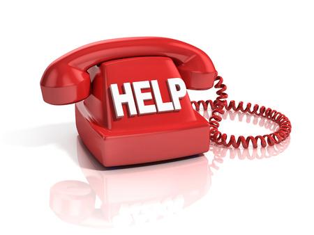 numpad: help phone 3d icon Stock Photo