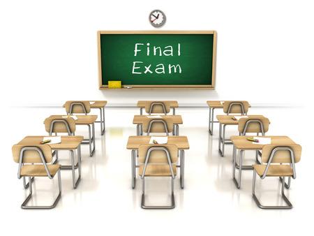 final exam 3d illustration