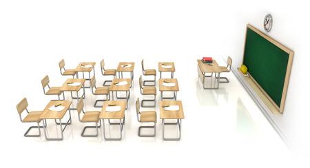 classroom 3d illustration