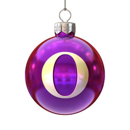 cocao: Colorful Christmas ball font letter O