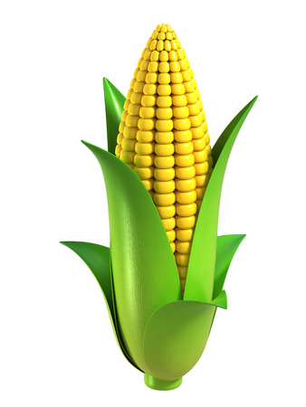 genetically modified: corn 3d illustration