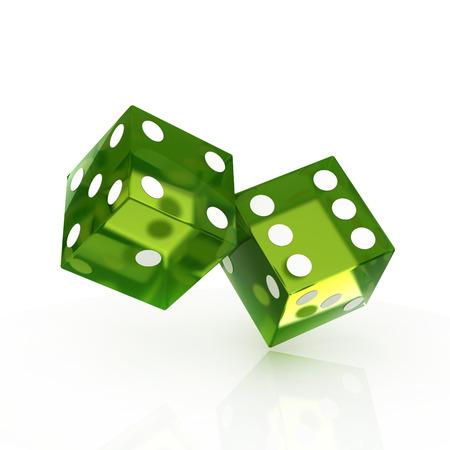 two dice isolated 版權商用圖片 - 37378752