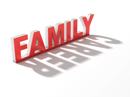 contradiction: family or career 3d concept