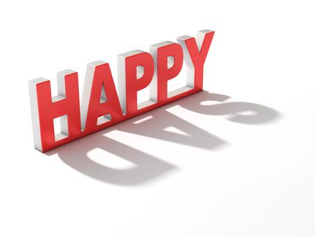 pessimist: happy sad 3d concept