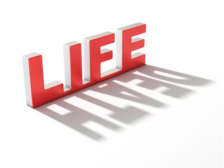 contradiction: life death 3d concept