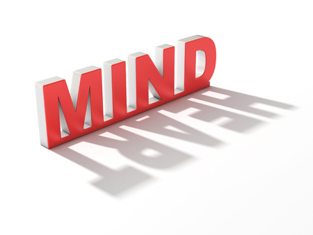 think different: mind or heart 3d concept