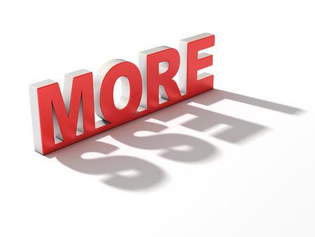 less: more or less 3d concept