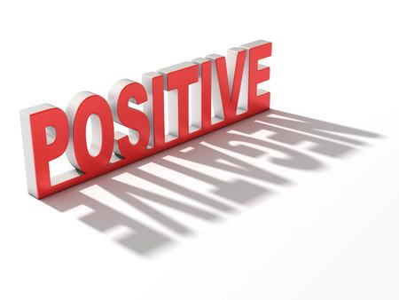 pessimist: positive negative 3d concept Stock Photo