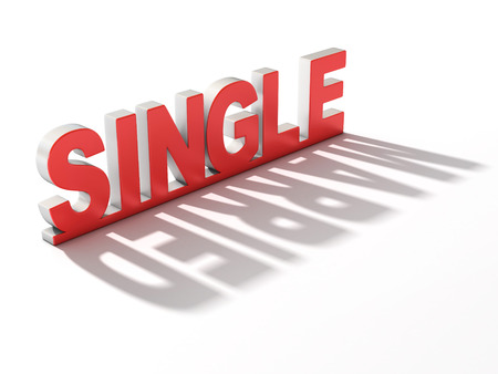 polygamy: single or married 3d concept Stock Photo