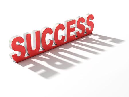contradiction: success failure 3d concept