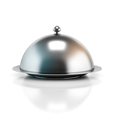 restaurant cloche 3d illustration Stock Photo