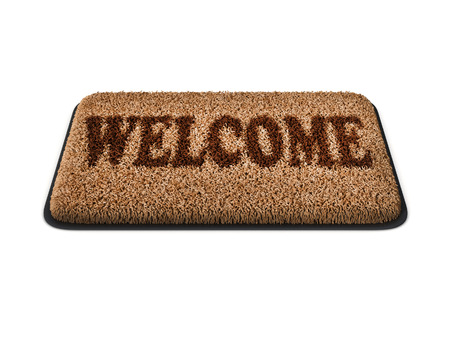 homecoming: doormat isolated