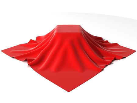 business cloth: box covered with red velvet