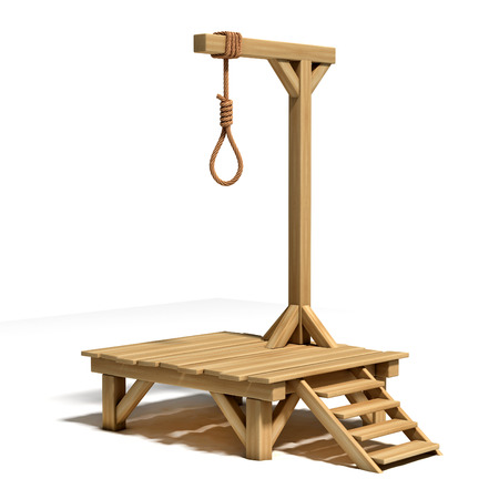 execution: gallows 3d illustration Stock Photo