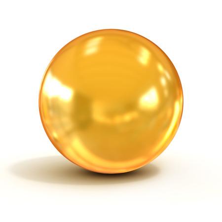 golden sphere Archivio Fotografico
