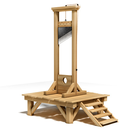 guillotine: guillotine 3d illustration