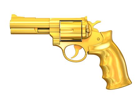 Pistola de oro Foto de archivo - 37385499