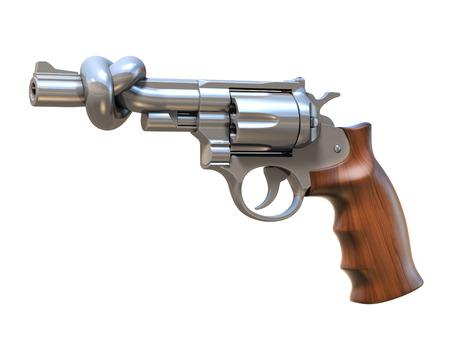 gun control: gun tied in a knot