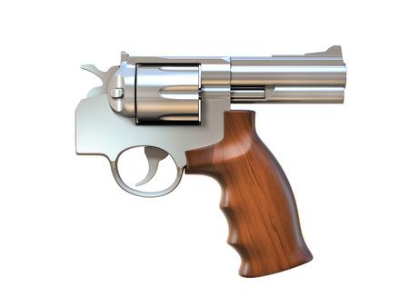 pistolas: pistola apuntando en la direcci�n equivocada -, fuego amigo 3d concepto