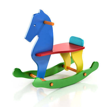 colorful rocking horse chair 3d illustration Stock Illustration - 37385784
