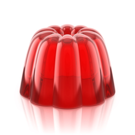 jello: red jelly pudding Stock Photo