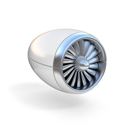 airplane engine: jet engine isolated on white background