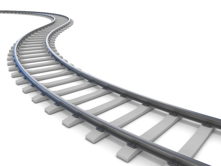 estacion de tren: ferroviario aislado en blanco