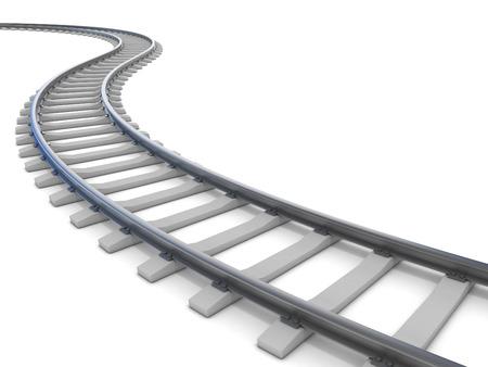 spoorweg geïsoleerd op wit