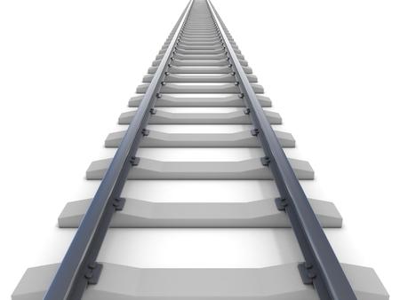 ferrocarril: ferroviario aislado en blanco