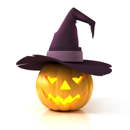 3d halloween: Halloween pumpkin 3d illustration