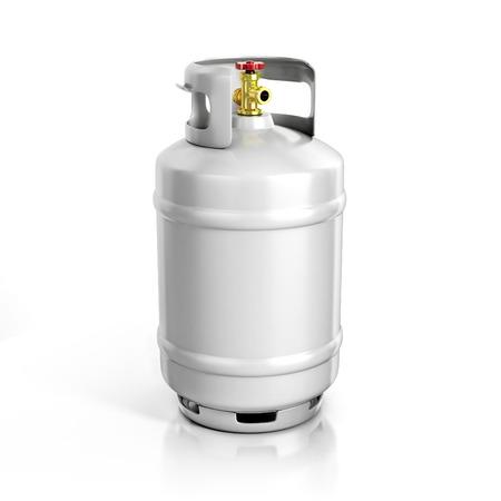 tanque: cilindro de propano con gas comprimido 3d ilustración Foto de archivo
