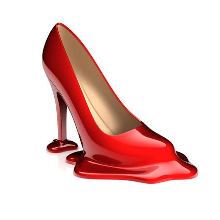 melting: melting high heel shoe