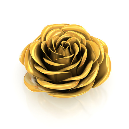 golden rose 3d Stock Photo - 42256120
