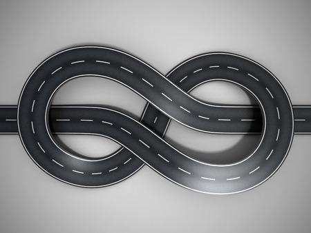 curvas: carretera atado en un bungle