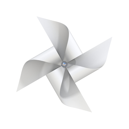 windmill toy: white paper windmill toy