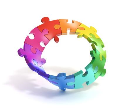 mobius symbol: 3d puzzle mobius stripe