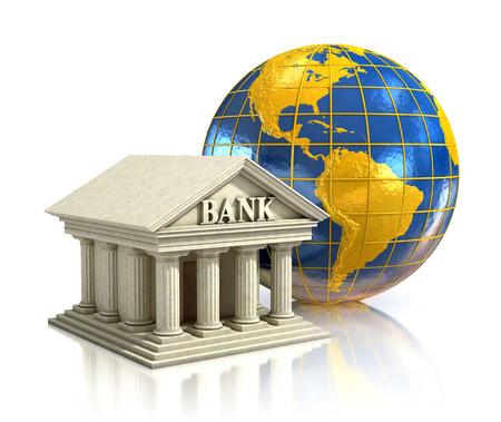 Bank Światowy: Bank 3d ilustracja świata