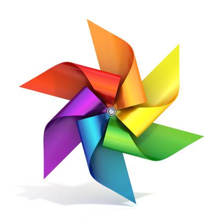 MOLINOS DE VIENTO: juguete molino de viento de papel de colores