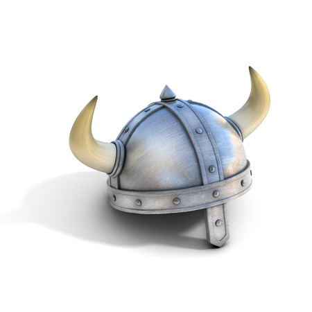 military helmet: viking helmet isolated