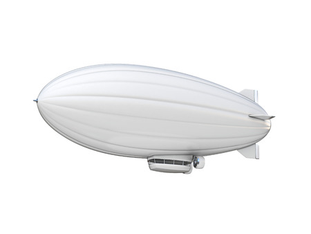 blimp: white zeppelin copy space