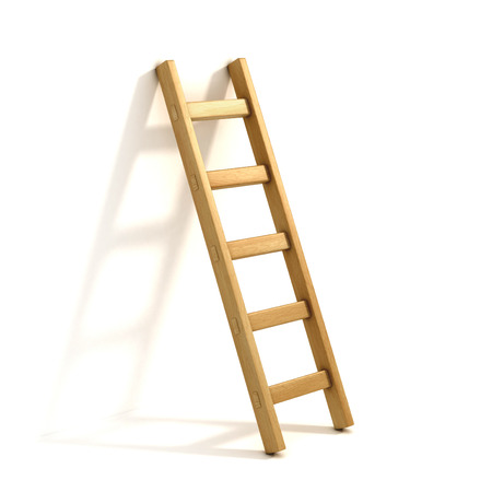 ladder of success: ladders isolated on white