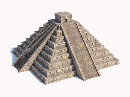 cultura maya: Pirámide maya aislado