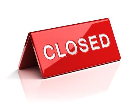 costumer: closed desk sign