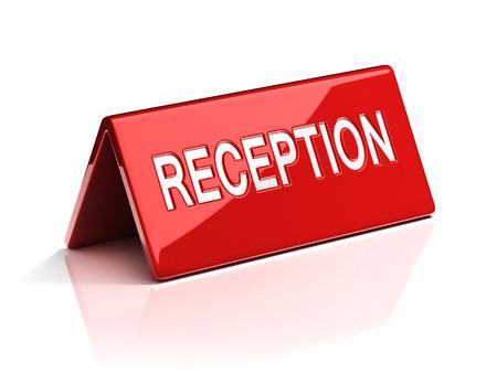 reception desk: Reception desk sign