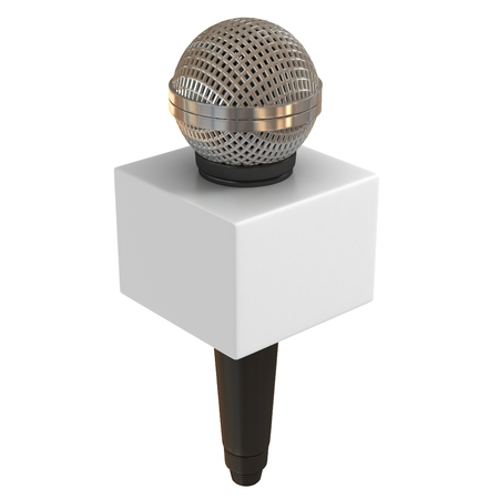 microphone stand: microphone with copy space box