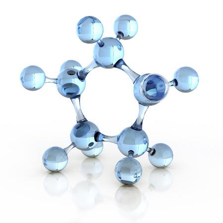 molécule 3d illustration Banque d'images