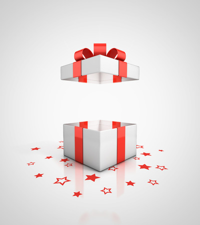 christmas gifts: open gift box